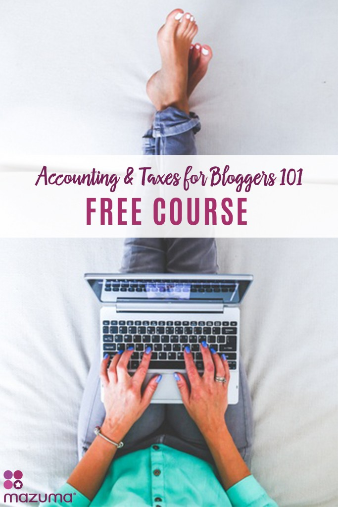 Blogging is more than a hobby, it's a business. Our FREE course on accounting & taxes for bloggers will help you turn your blog into a profitable business.
