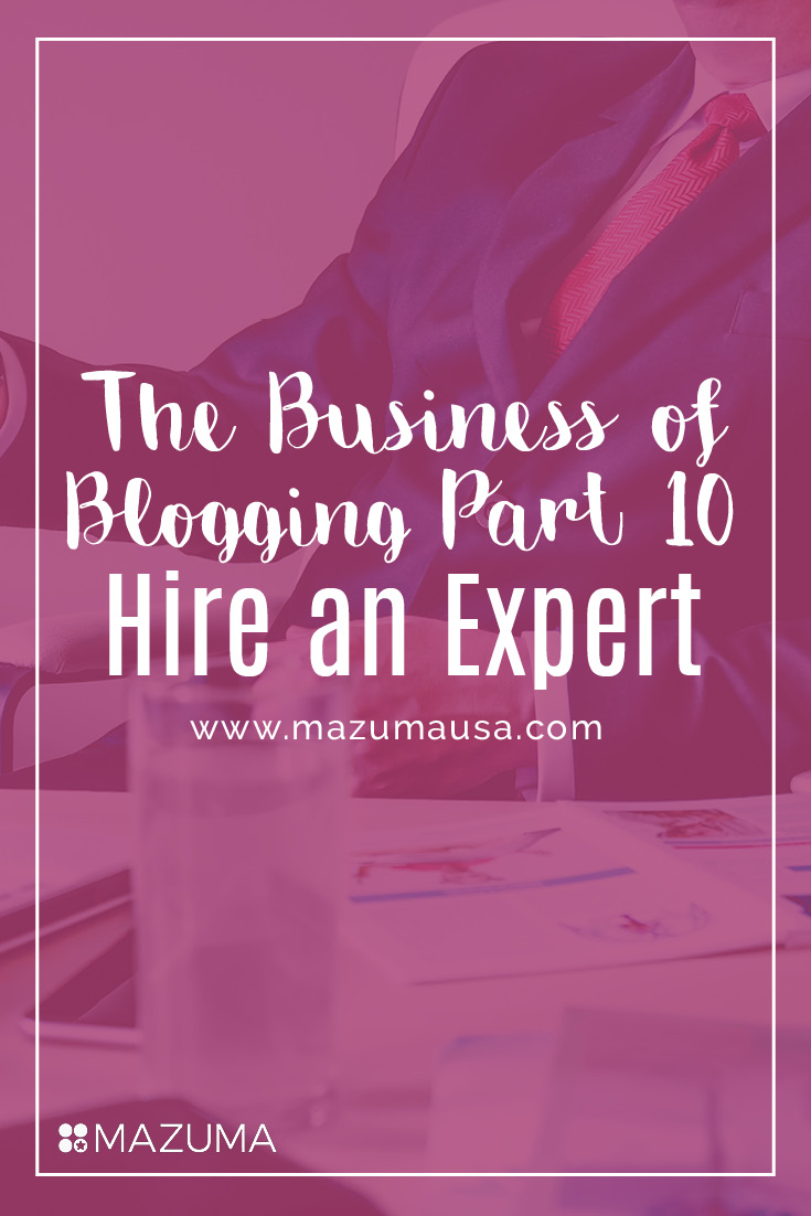 If your blog is continually growing, it may be time to hire an expert to take care of your accounting & bookkeeping, so that you can focus on creativity.