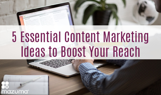 Coming up with content marketing ideas can be difficult. These 5 ideas can help you create content that will boost your reach.