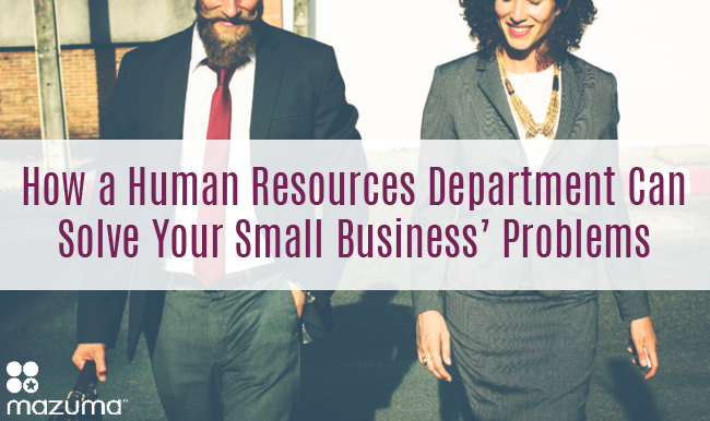 As businesses grow, small business owners can't handle everything on their own. A human resources department can help your business run smooth.