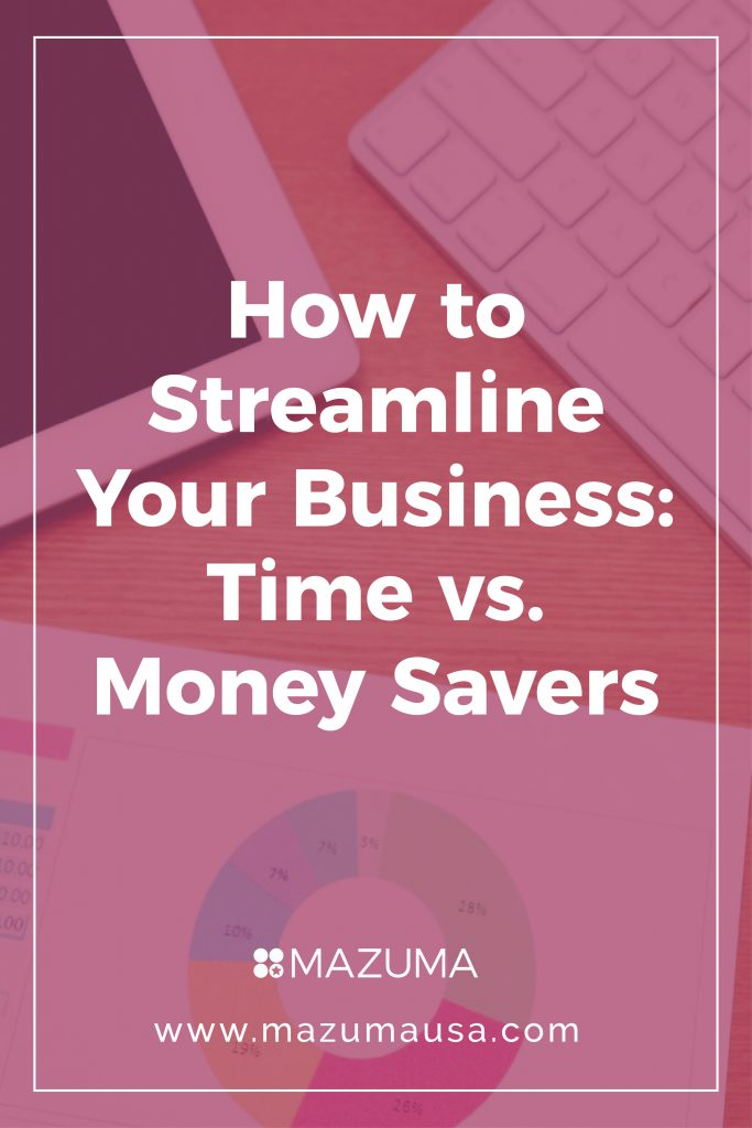 How To Streamline your Business: Time vs. Money Savers | Small Business Accounting & Business Tips | Mazuma USA