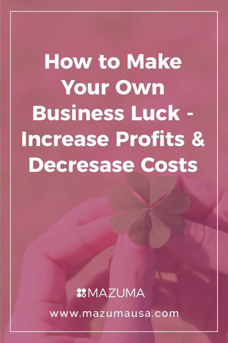 How to Make Your Own Business Luck | Increase Profits & Decrease Costs for Small Business | Mazuma USA