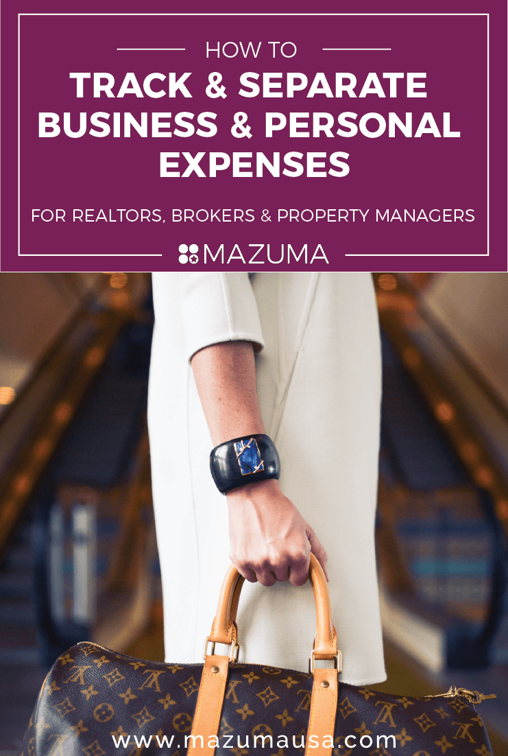 how to track and separate business and personal expenses as a real