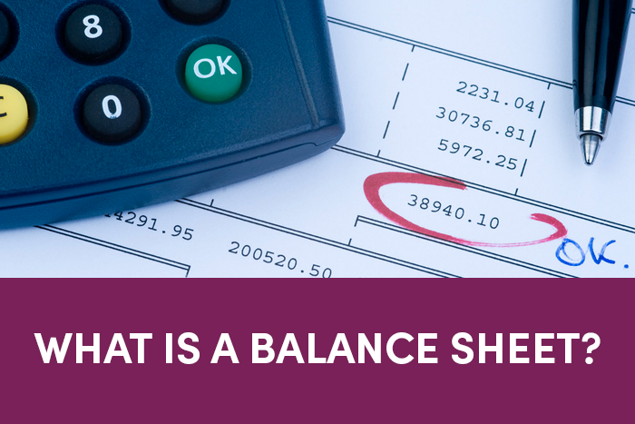 What is a balance sheet?