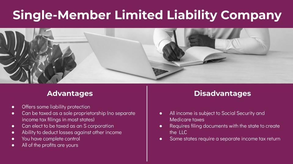 Single-Member LLC Advantages and Disadvantages