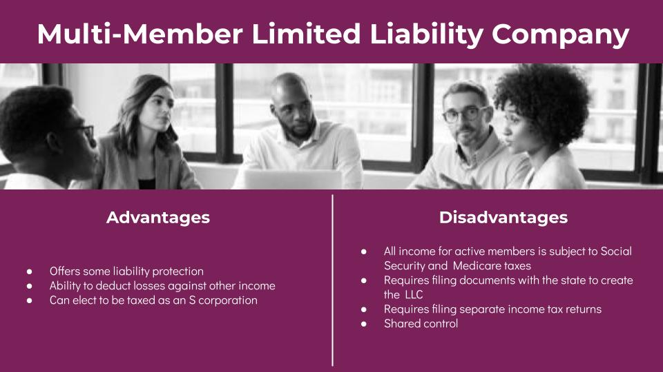 Multi-Member LLC Advantages and Disadvantages