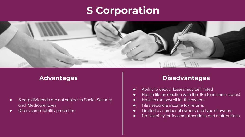 S Corp Advantages and Disadvantages