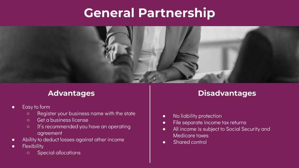 Partnership Advantages and Disadvantages