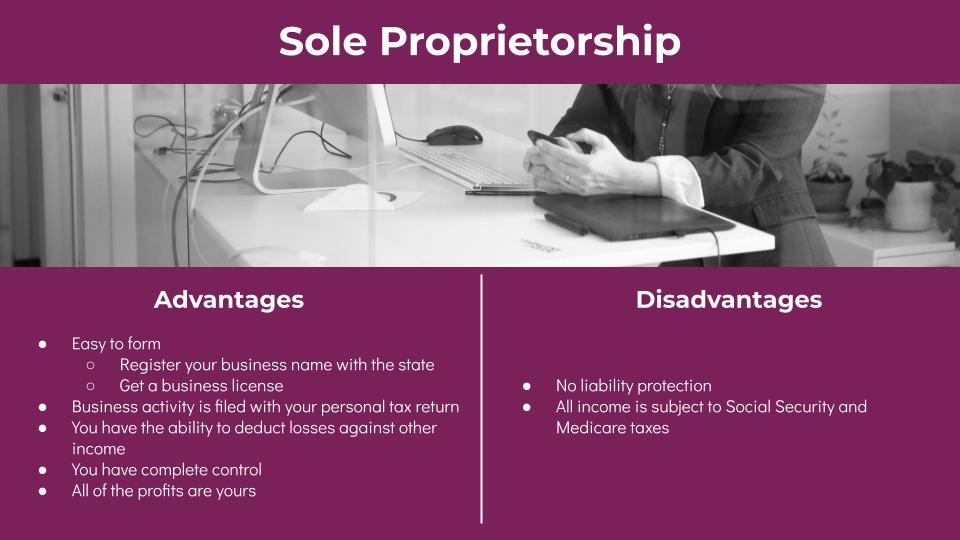 Sole Proprietorship Advantages and Disadvantages